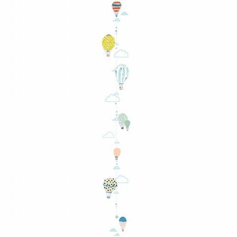 Mimilou muursticker meetlat ballonnen