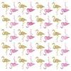 Roommates muursticker kinderkamer flamingo's glitter