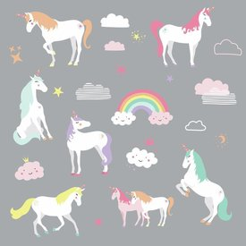 Roommates Roommates muursticker eenhoorn unicorn magic