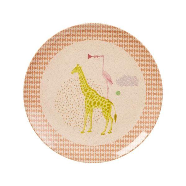 rice Denmark Rice bamboe kinderbord met dieren print meisje