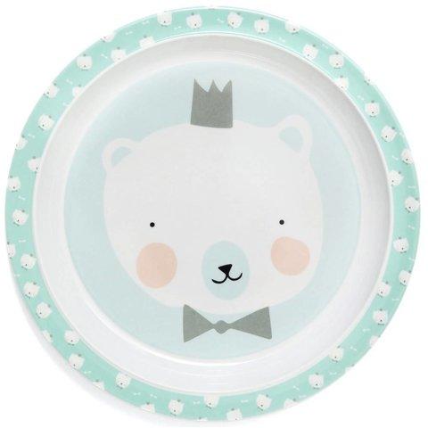 Petit Monkey melamine bord ijsbeer mint