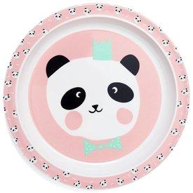 Petit Monkey Petit Monkey melamine bord panda beer roze