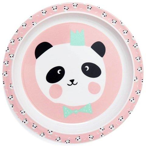 Petit Monkey melamine bord panda beer roze