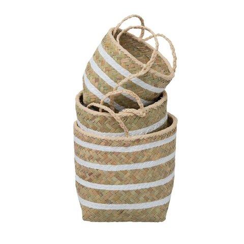 Rice ophangmanden met witte strepen