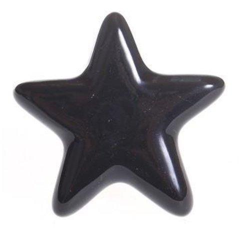 La Finesse kastknopje ster zwart