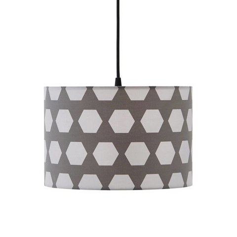 Kidsconcept kinderlamp Hexagon grijs