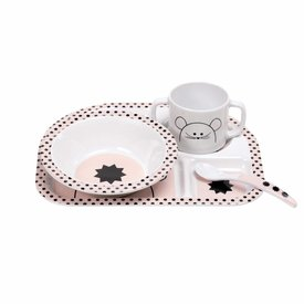 Lässig Lässig kinderservies muis roze