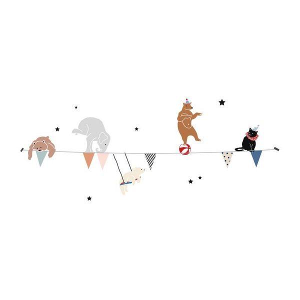 Mimi'lou Mimilou muursticker kinderkamer vlaggetjes slinger circus