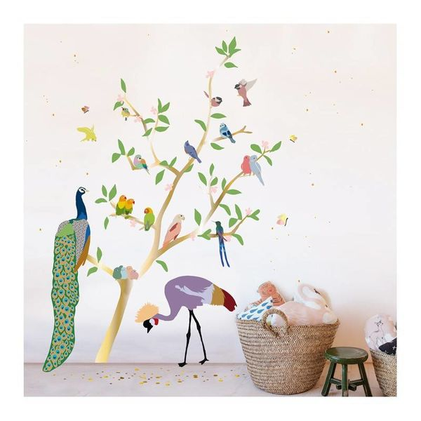 Mimi'lou Mimilou muursticker boom met vogels With the Birds