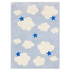 Kidsconcept Kids Concept vloerkleed wolken lichtblauw