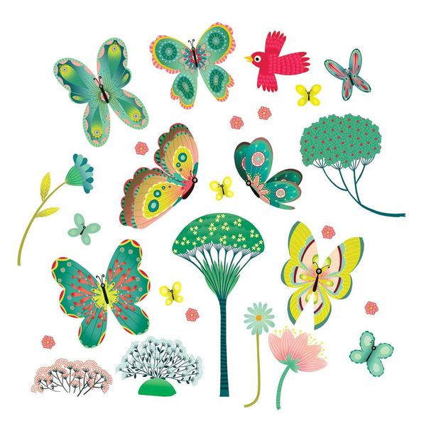 Djeco Djeco raamsticker vlinders papillons au jardin