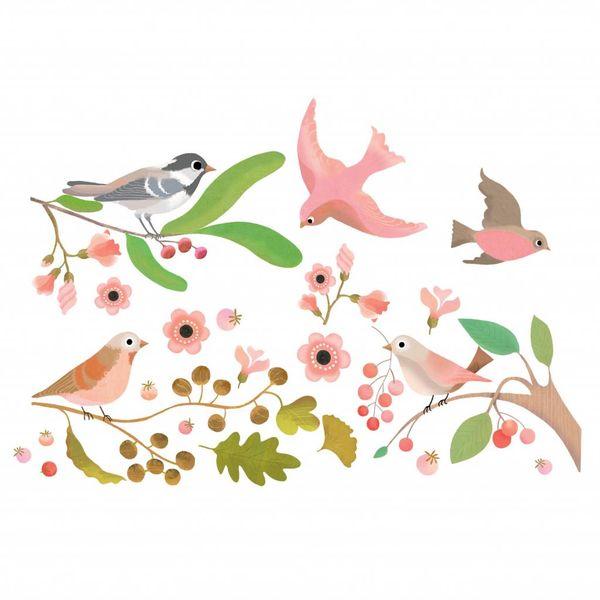 Djeco Djeco raamsticker vogels Oiseaux Romantiques