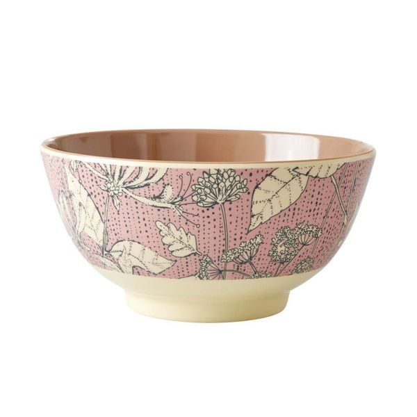 rice Denmark Rice melamine kom roze bloemen  Wild Chervil print