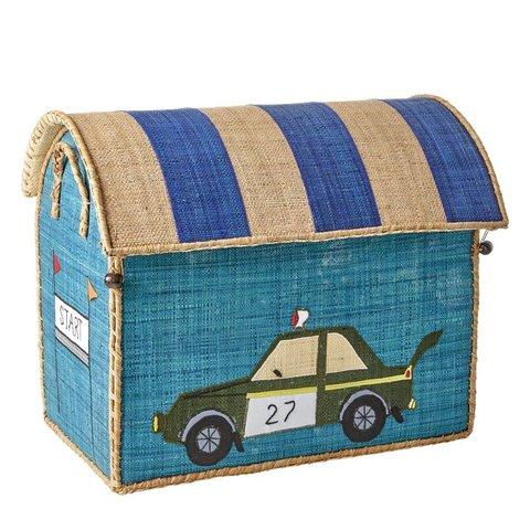 Rice speelgoedmand raceauto groot