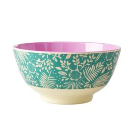 rice Denmark Rice melamine kom bloemen Fern and Flower