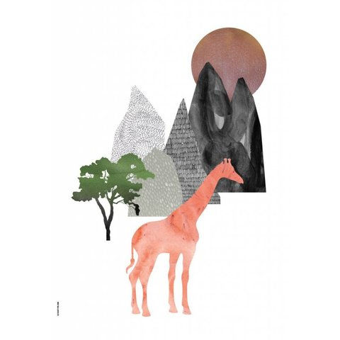 I Love My Type poster A3 Mountain Life Giraffe