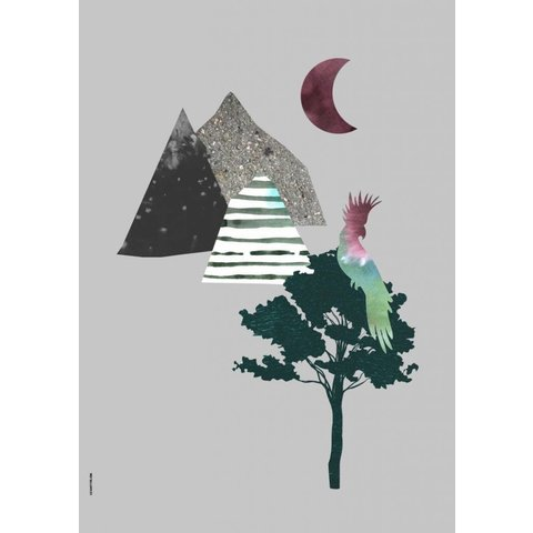 I Love My Type poster A3 Mountain Life kaketoe