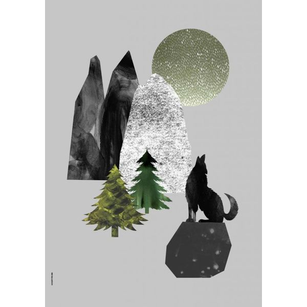 I Love My Type I Love My Type poster A3 Mountain Life wolf
