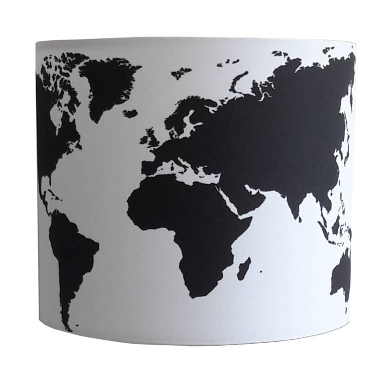 designed4kids wandlamp kinderkamer worldmap zwart wit | kidzsupplies