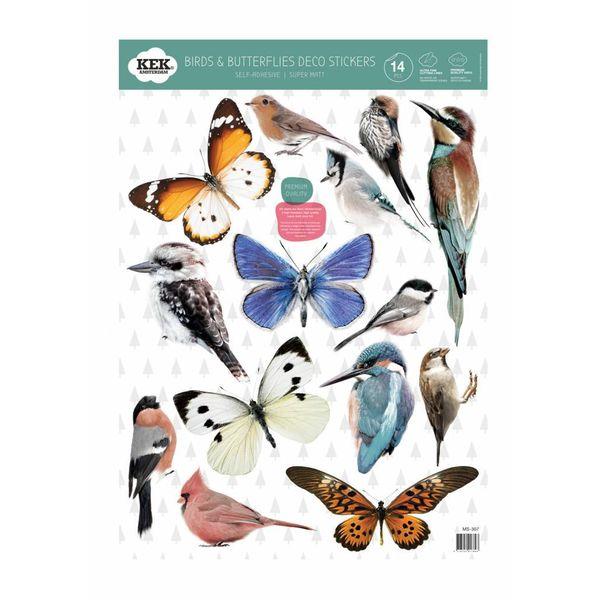KEK Amsterdam muursticker vlinders en vogels
