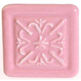La Finesse La Finesse kastknopje relief vierkant roze