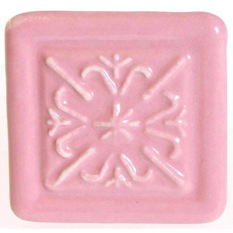 La Finesse kastknopje relief vierkant roze