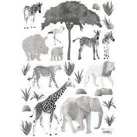 Lilipinso Lilipinso muursticker dieren safari