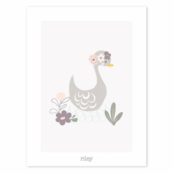 Lilipinso Lilipinso poster zwaan met bloemen