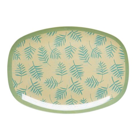 Rice melamine bord Palm Leaves print