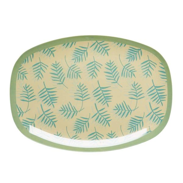 rice Denmark Rice melamine bord ovaal Palm Leaves print
