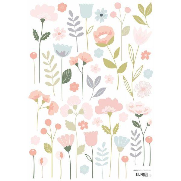 Lilipinso Lilipinso muursticker kinderkamer romantische bloemen