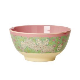 rice Denmark Rice melamine kom vlinders groen roze