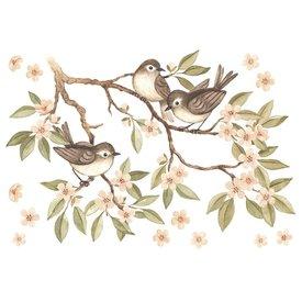 Lilipinso Lilipinso muursticker tak met vogeltjes
