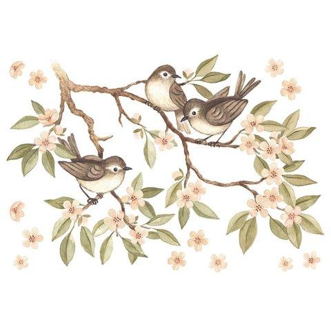 Lilipinso muursticker tak met vogeltjes