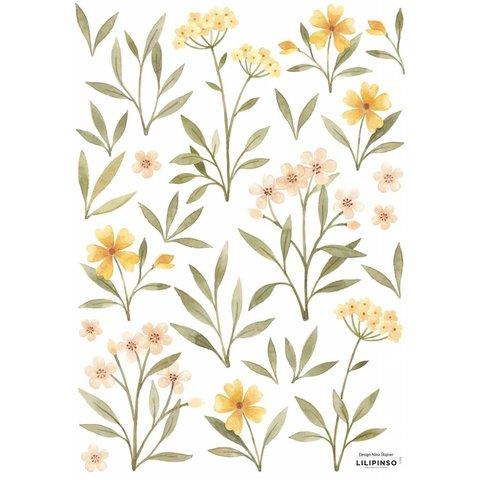 Lilipinso muursticker bloemen en blaadjes