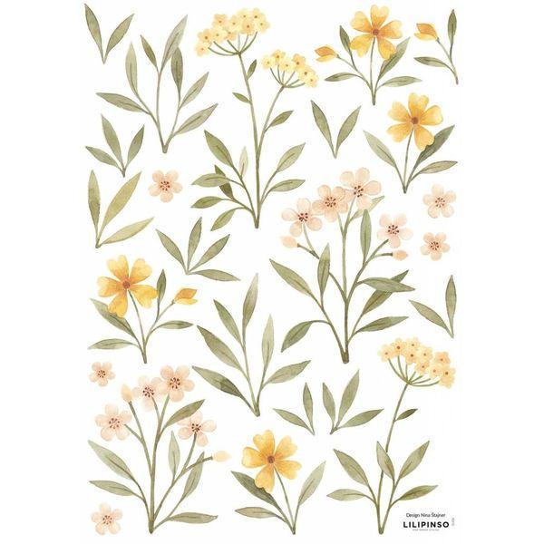 Lilipinso Lilipinso muursticker kinderkamerbloemen en blaadjes
