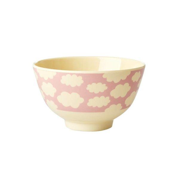 rice Denmark Rice melamine schaaltje wolken print roze klein