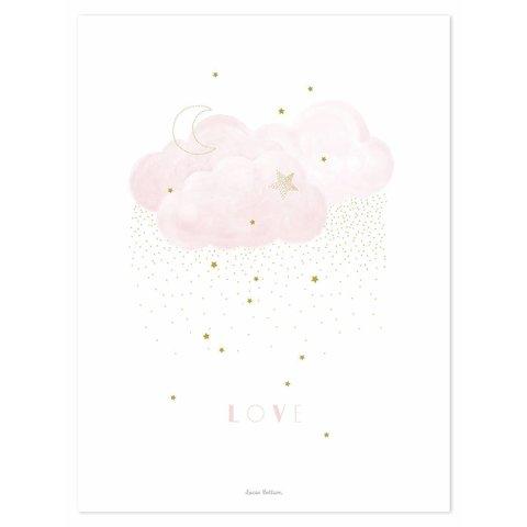 Lilipinso poster wolk roze Sweet Love