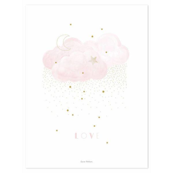 Lilipinso Lilipinso poster wolk roze Sweet Love