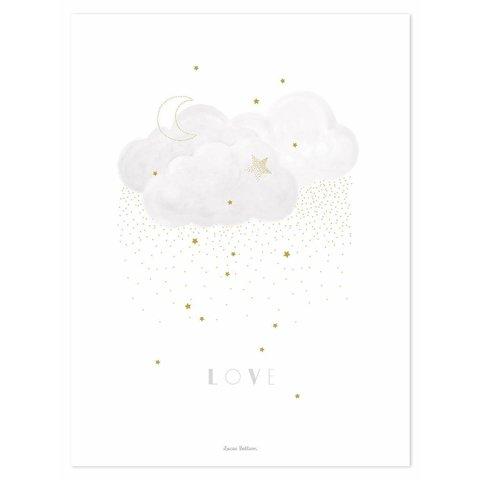 Lilipinso poster wolk grijs Sweet Love