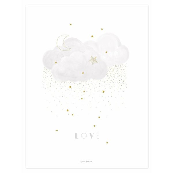 Lilipinso Lilipinso poster wolk grijs Sweet Love