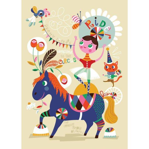 Petit Monkey Petit Monkey poster Pretty Little Rider 50 cm x 70  cm