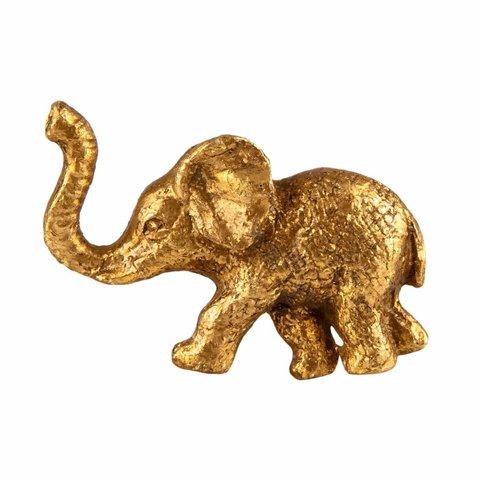 Deurknop olifant goud