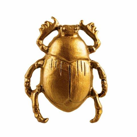 Deurknop kever scarabee goud