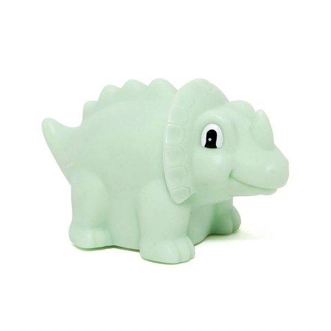 Petit Monkey nachtlampje dino Triceratops mint