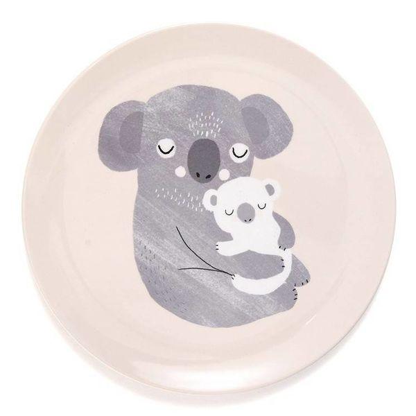 Petit Monkey Petit Monkey melamine kinderbord koala roze