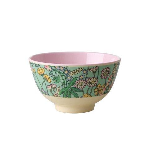 Rice melamine schaaltje bloemen lupine print klein