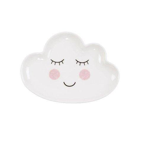 Sass en Belle porseleinen bord wolk