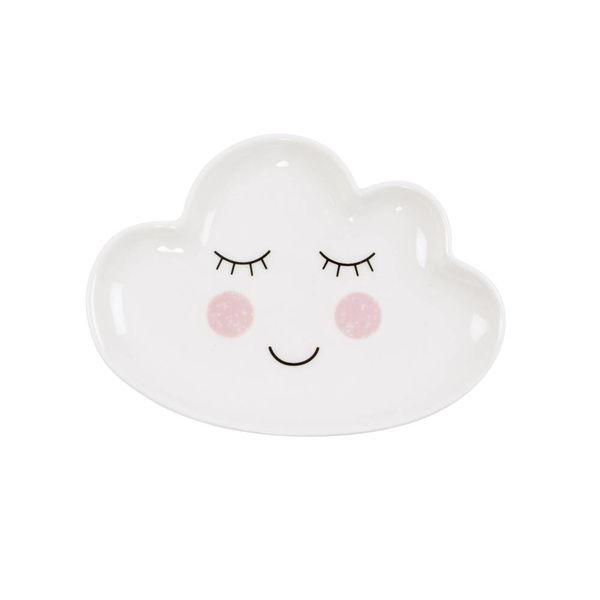 Sass & Belle Sass & Belle porseleinen kinderbord wolk