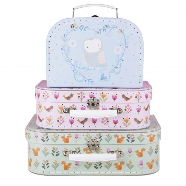 Sass & Belle Sass & Belle koffer set bosdieren Woodland Friends